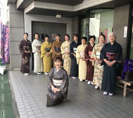着物でランチ会in東日本ホテル